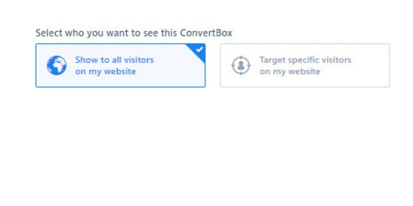 Convertbox targeting options