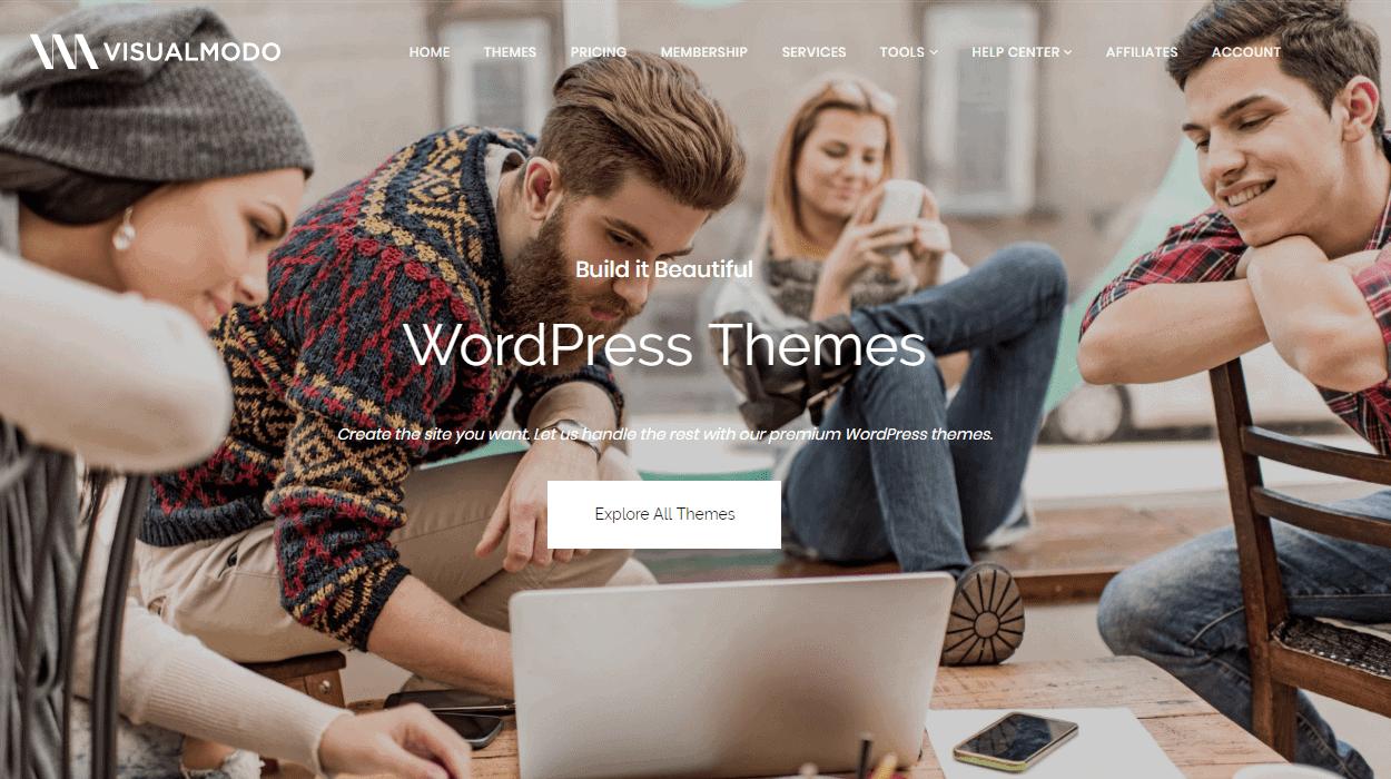 Visualmodo wordpress themes lifetime subscription