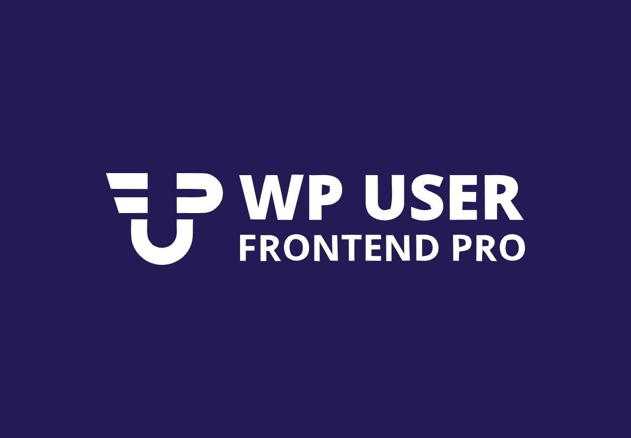 WP user frontend pro wordpress plugin