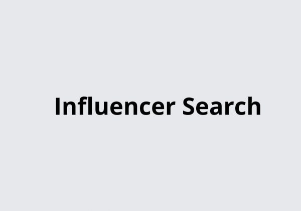 Influencer Search searh million of influencers in one plae