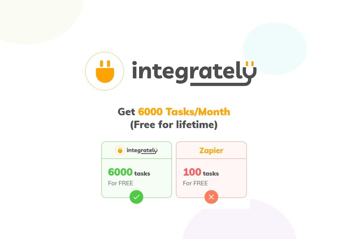 Integrately Lifetime free tasks