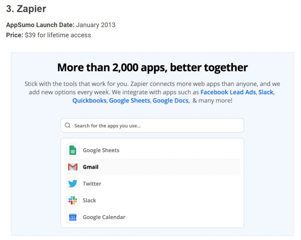 Was there ever a Zapier lifetime deal ? 9