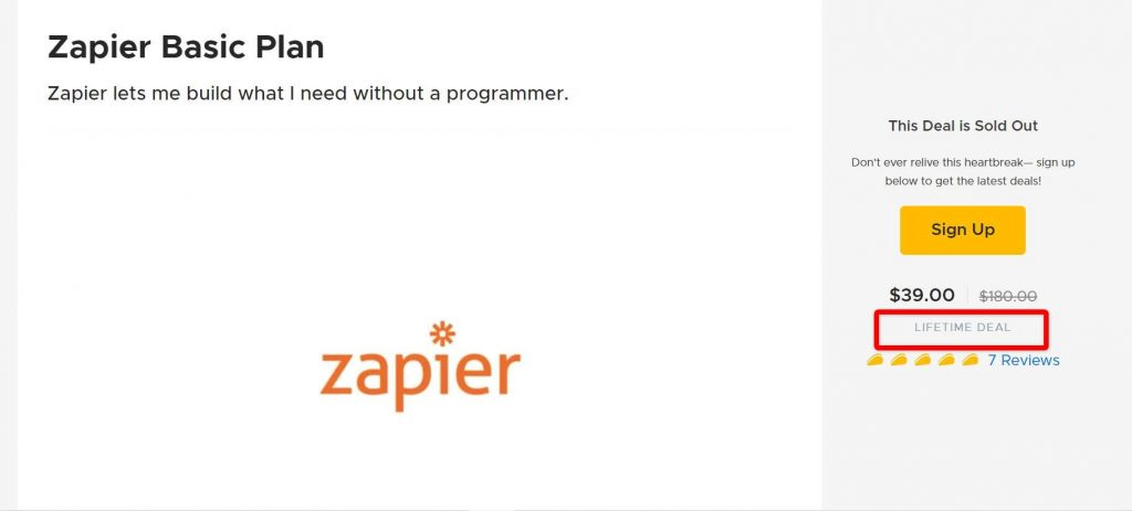Was there ever a Zapier lifetime deal ? 7