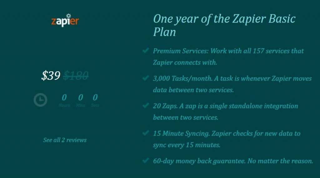 Was there ever a Zapier lifetime deal ? 11