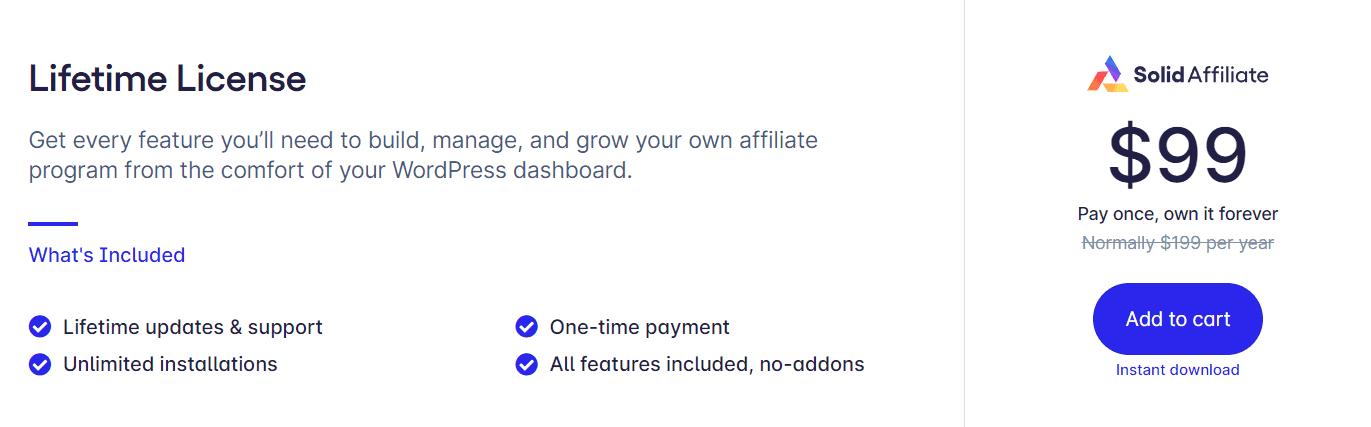 Solid Affiliate Price